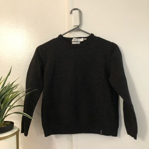 Calvin Klein dark gray cropped wool sweater